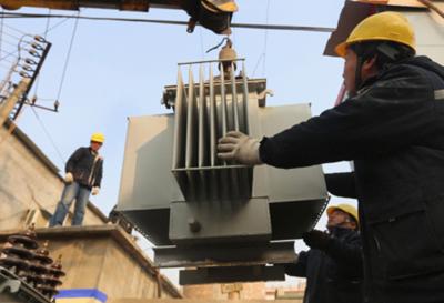 ...变压器是安阳县公司近几年规模最大的一次,目前已有120多台变...