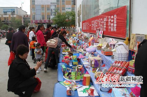 """富蕴县幼儿园举办""""庆六一""""亲子创意手工作品大赛展示"""