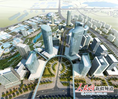 市民中心广场鸟瞰图.