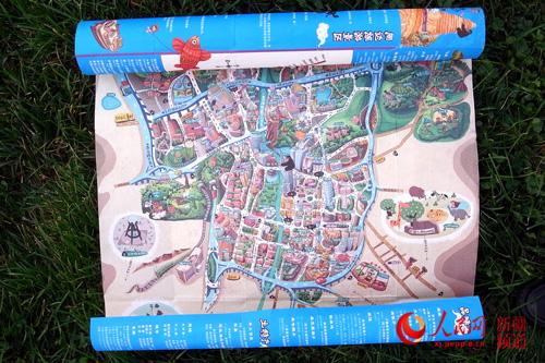 手绘乌鲁木齐地图
