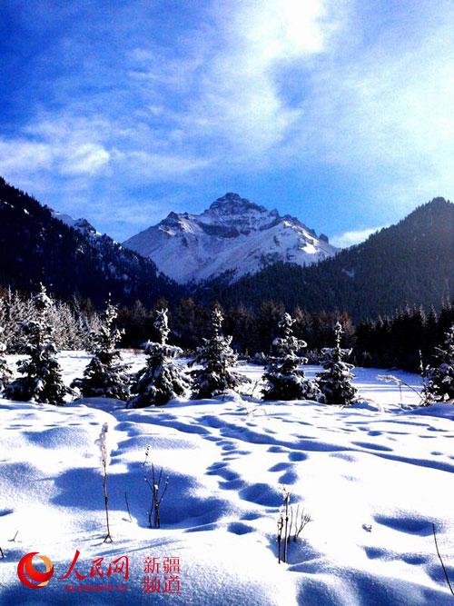 新疆乌苏佛山国家森林公园待甫僧景区冬景美如画(图)