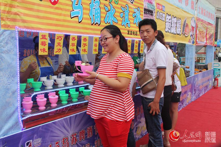 百余种新疆美食特色空降乌苏台湾啤酒节(图)街美食乌鲁木齐劳动图片