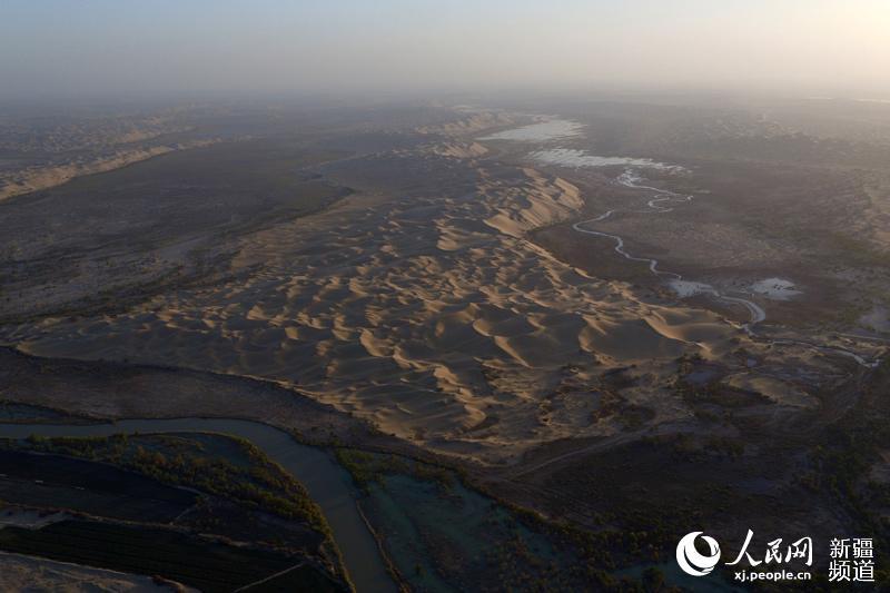 塔里木河流域重点胡杨林区应急补水暨塔里木河下游第17次生态输水