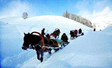 冰雪旗袍秀展新疆冬春旅游魅力